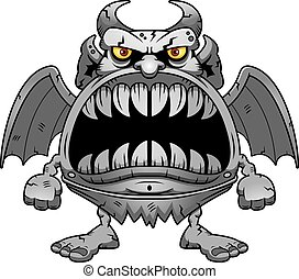 Angry Cartoon Gargoyle
