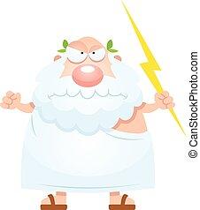 Angry Cartoon Greek God