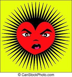 Angry Cartoon Heart