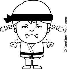 Angry Cartoon Karate Kid