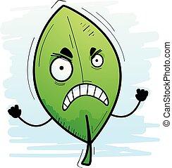 Angry Cartoon Leaf