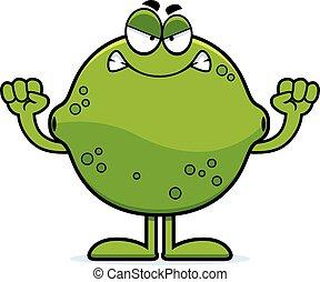 Angry Cartoon Lime