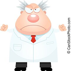 Angry Cartoon Mad Scientist