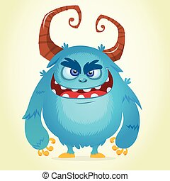 Angry cartoon monster