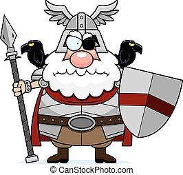 Angry Cartoon Odin