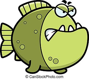 Angry Cartoon Piranha