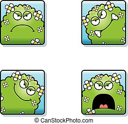 Angry Cartoon Plant Monster Icons