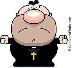 Angry Cartoon Priest
