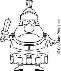 Angry Cartoon Roman Centurion - A cartoon illustration of a...