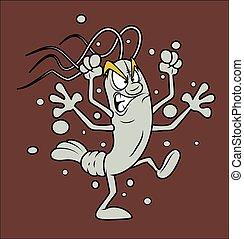 Angry Cartoon Shrimp