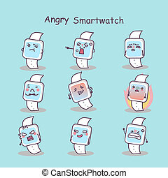 Angry cartoon smart watch