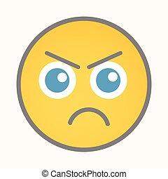 Angry - Cartoon Smiley Vector Face