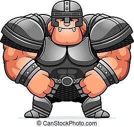 Angry Cartoon Warrior