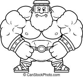 Angry Cartoon Zeus