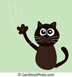 Angry cat cartoon vector