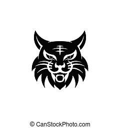 angry cat head logo,
