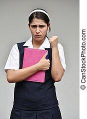 Angry Catholic Female Student