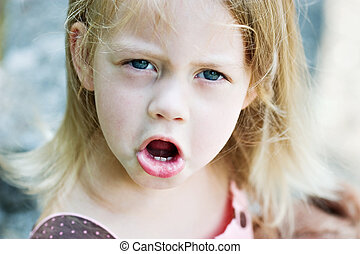 Angry Child - Angry toddler throwing a tantrum