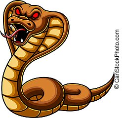 Angry cobra snake cartoon