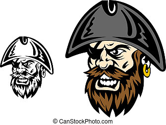 Angry corsair captain - Angry corsair and pirate captain for...