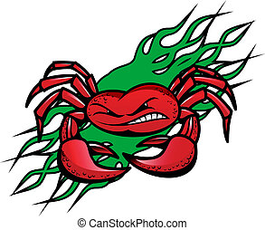 Angry crab tattoo