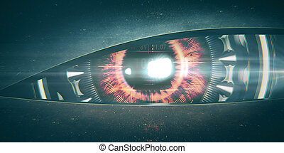 Angry cyber eye