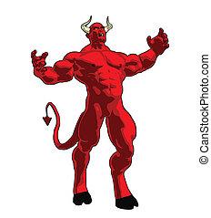 An enraged angry demon.