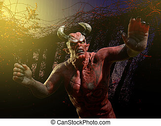 Angry Demon - Stay Away! - An angry demon warns you to stay ...