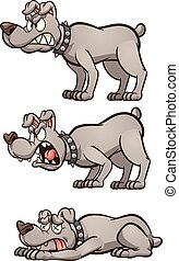 Angry dog - Dog barking with different expressions and body ...