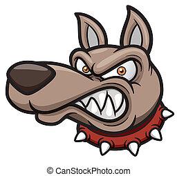 Angry dog - Vector illustration of Angry cartoon dog