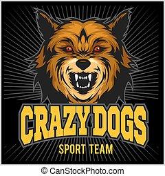 Angry dog - sport team