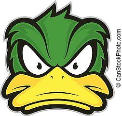 Angry duck mascot