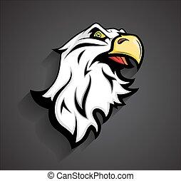 Angry Eagle Head Mascot Tattoo