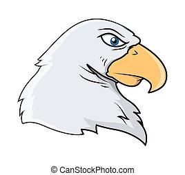 Angry Eagle Head Vector