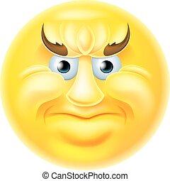 Angry Emoji Emoticon Man
