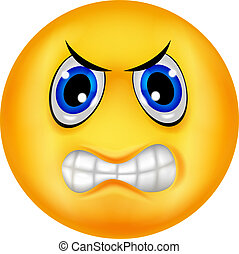 Angry emoricon cartoon