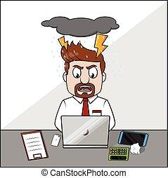 Angry employee