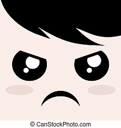 angry expression design