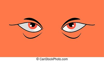 angry eyes design