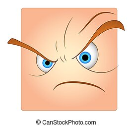 Angry Face Cartoon Smiley