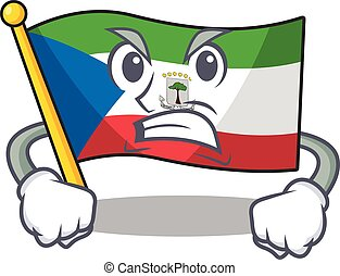 angry face flag equatorial guinea Scroll cartoon character ...