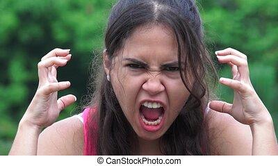 Angry Female Teen