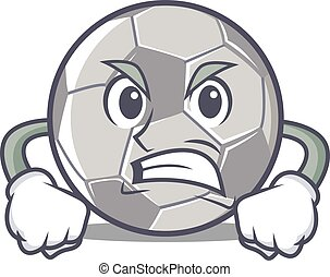 Angry football character cartoon style