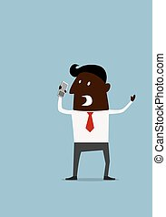 Angry frustrated afroamerican businessman - Angry frustrated...