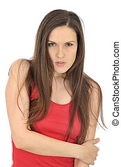 Angry Frustrated Young Woman