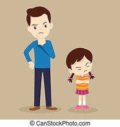angry girl and teacher