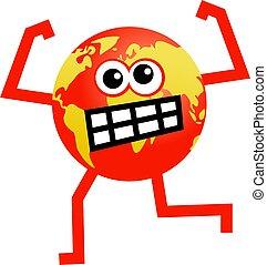 angry globe