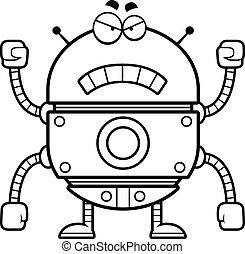 Angry Gold Robot