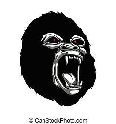Angry gorilla head.