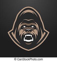 Angry Gorilla logo, symbol. - Angry Gorilla logo symbol. on...